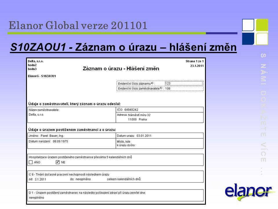 S10ZAOU1 - Záznam o úrazu – hlášení změn