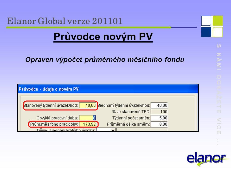 Průvodce novým PV Elanor Global verze 201101