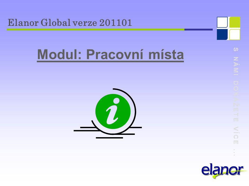 Modul: Pracovní místa Elanor Global verze 201101