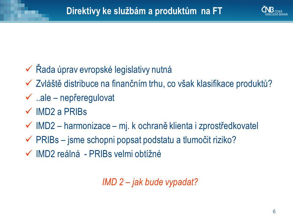 Direktivy ke službám a produktům na FT
