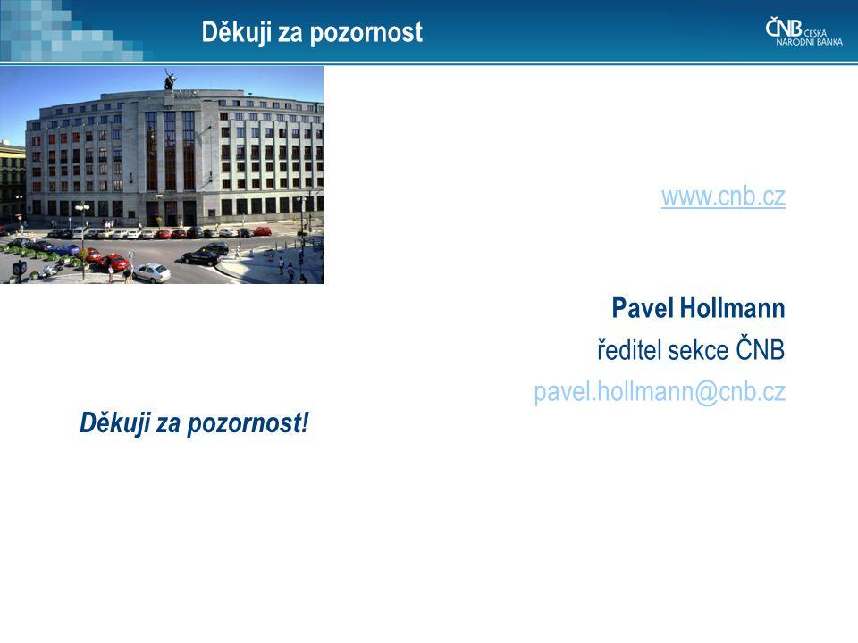 Děkuji za pozornost www.cnb.cz. Pavel Hollmann. ředitel sekce ČNB.