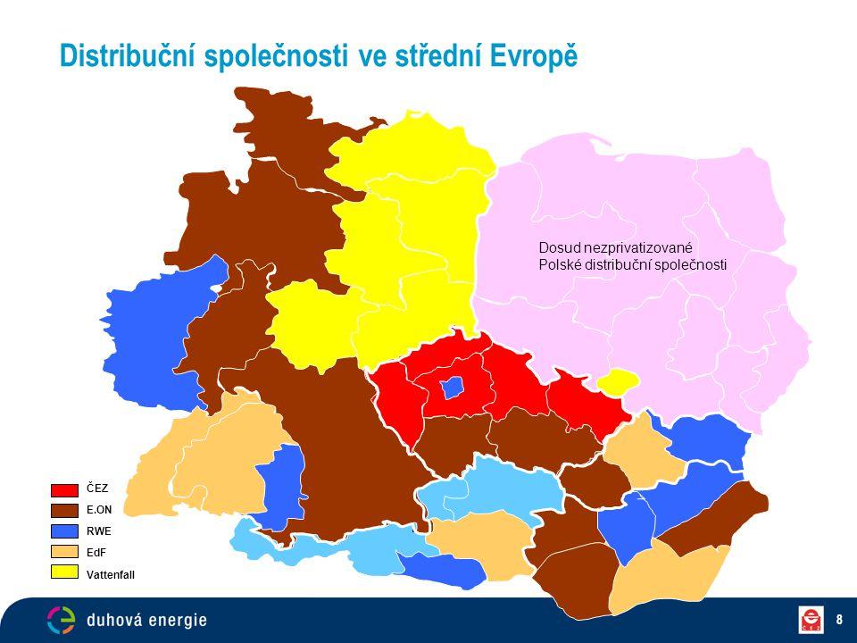 Distribuční společnosti ve střední Evropě