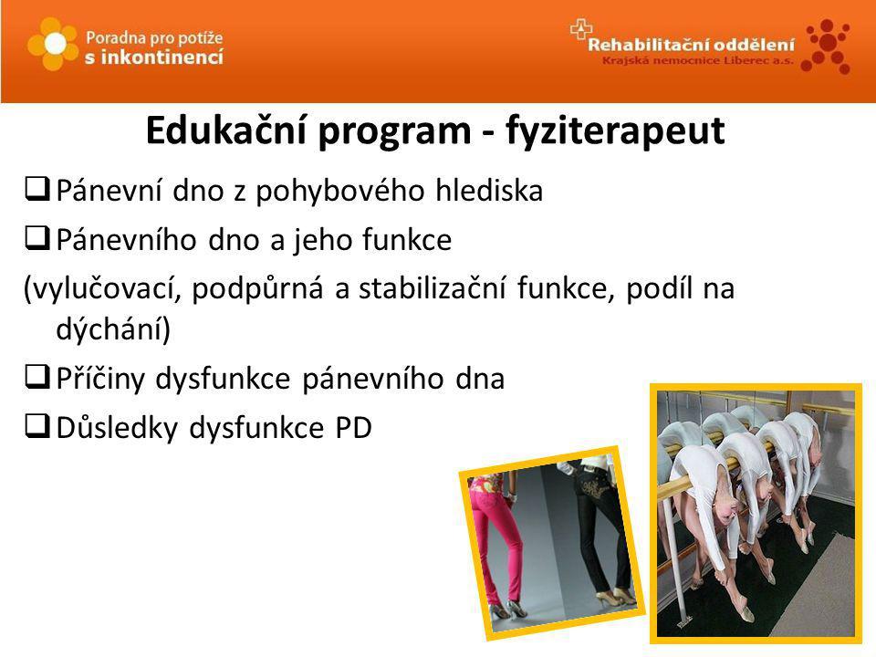 Edukační program - fyziterapeut