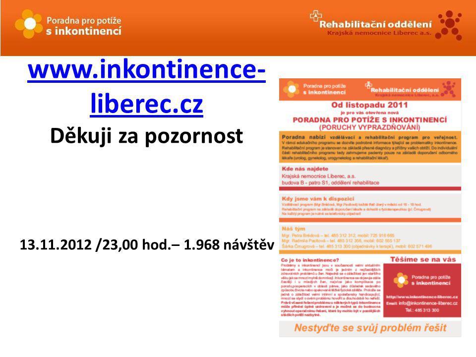 www. inkontinence-liberec. cz Děkuji za pozornost 13. 11