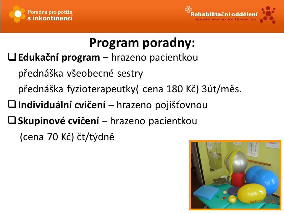 Program poradny: Edukační program – hrazeno pacientkou