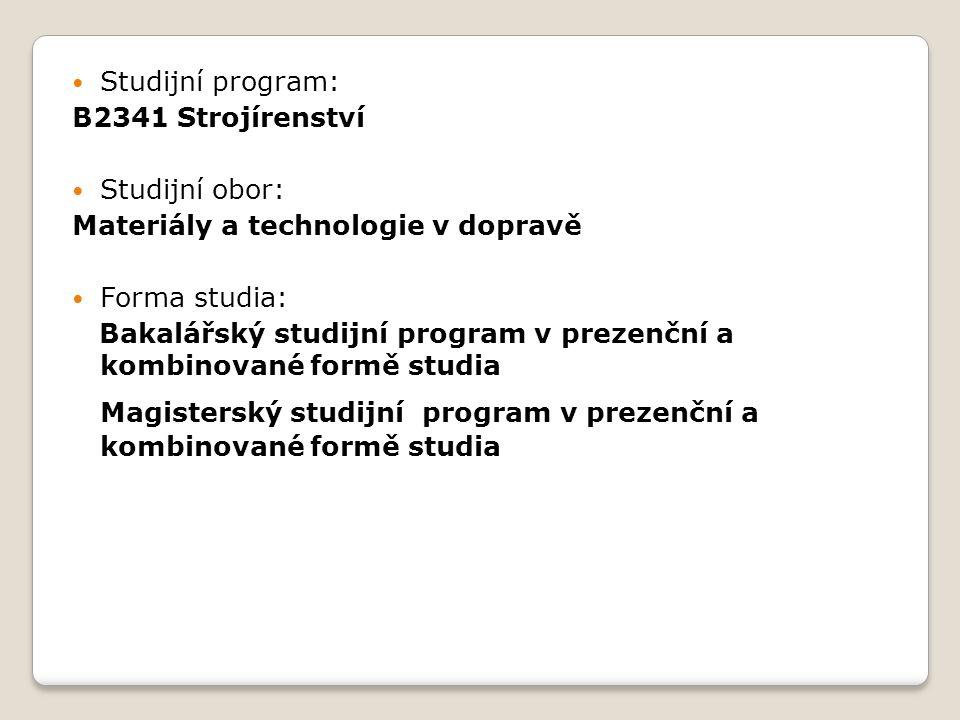 Magisterský studijní program v prezenční a kombinované formě studia