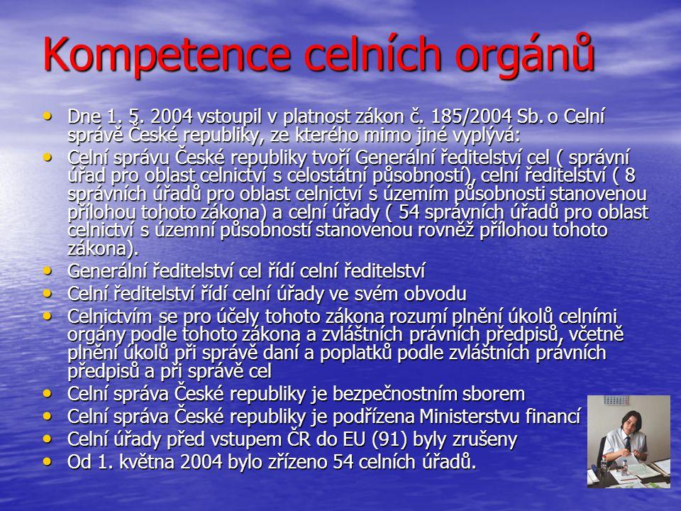 Kompetence celních orgánů
