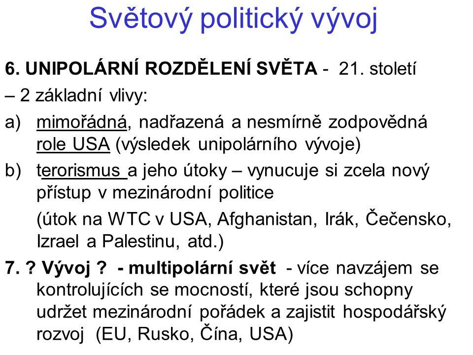 Světový politický vývoj