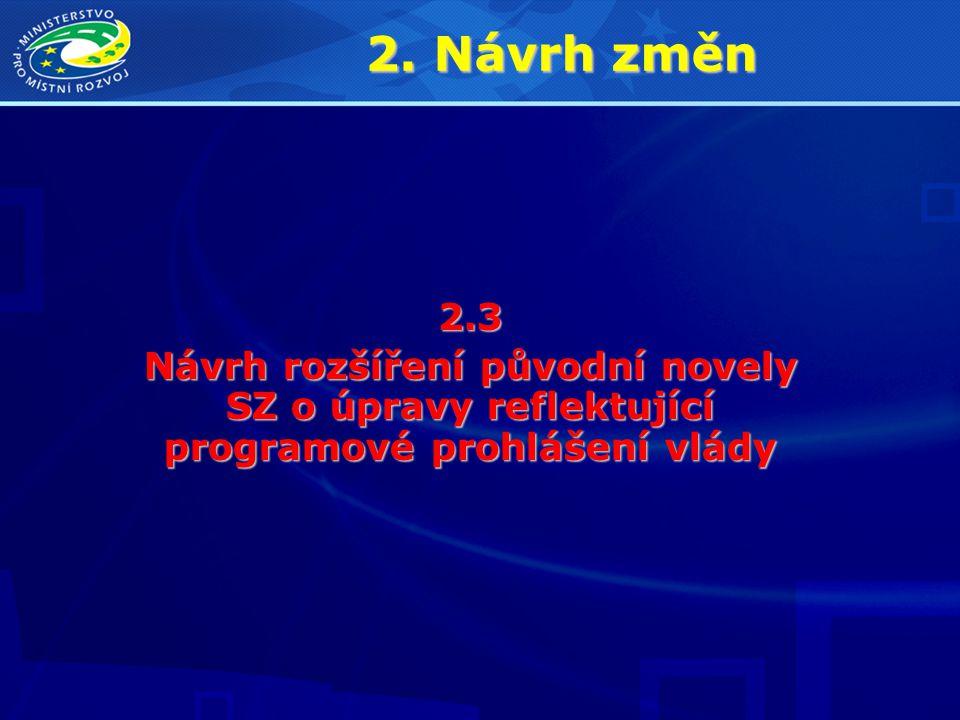 2. Návrh změn 2.3.