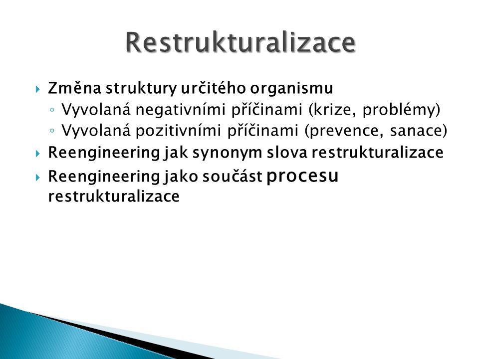 Restrukturalizace Změna struktury určitého organismu