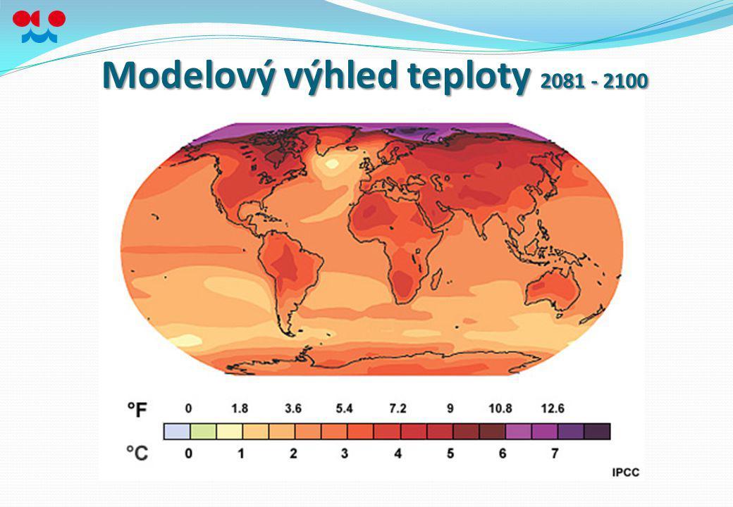 Modelový výhled teploty 2081 - 2100