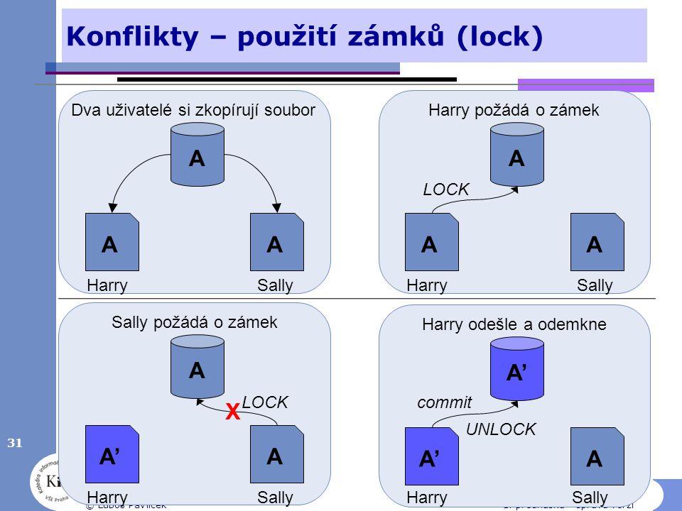 Konflikty – použití zámků (lock)