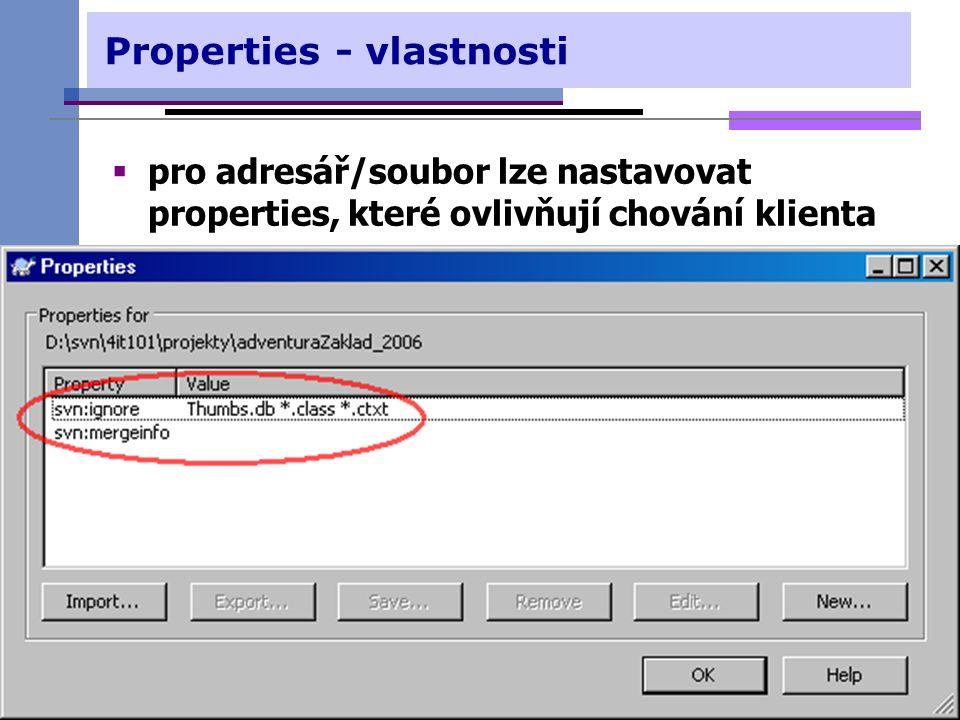 Properties - vlastnosti