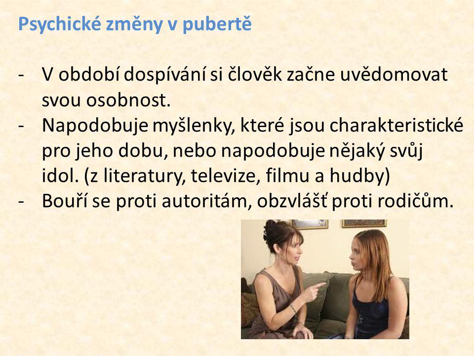 Psychické změny v pubertě
