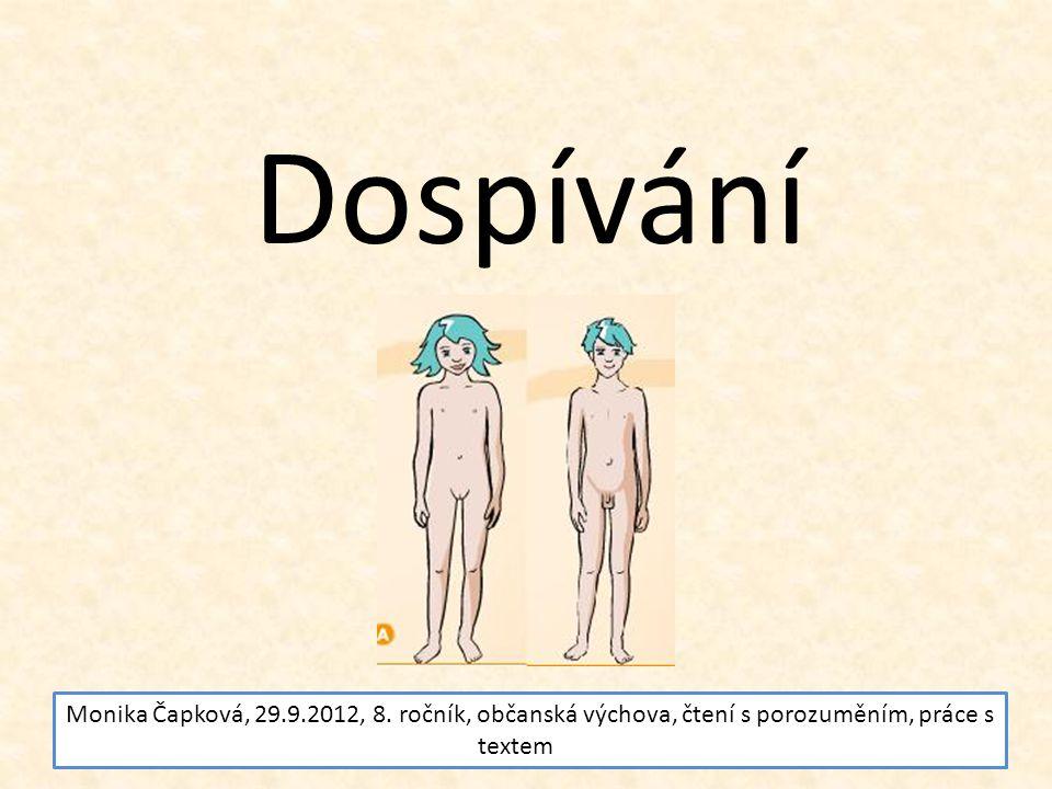 Dospívání Monika Čapková, 29.9.2012, 8.
