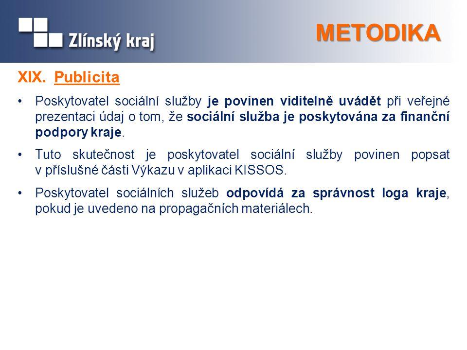 METODIKA XIX. Publicita