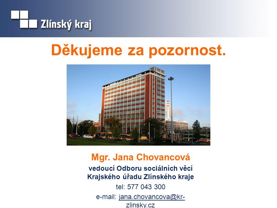 vedoucí Odboru sociálních věcí Krajského úřadu Zlínského kraje