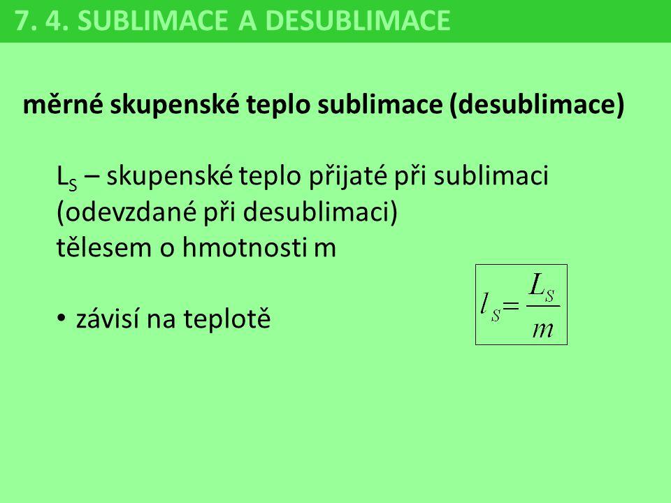 7. 4. SUBLIMACE A DESUBLIMACE