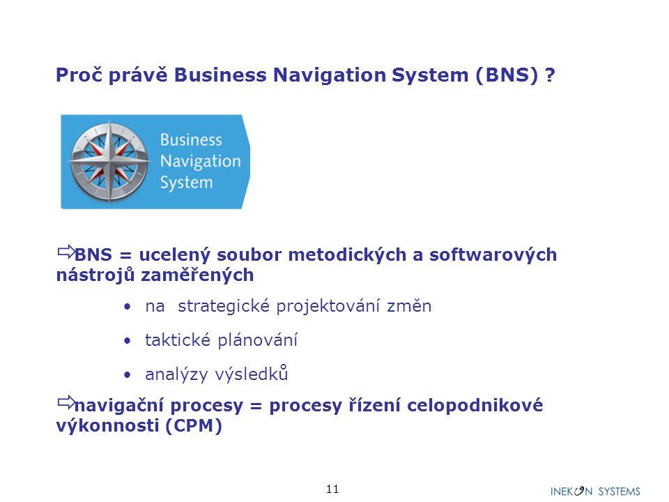 Proč právě Business Navigation System (BNS)