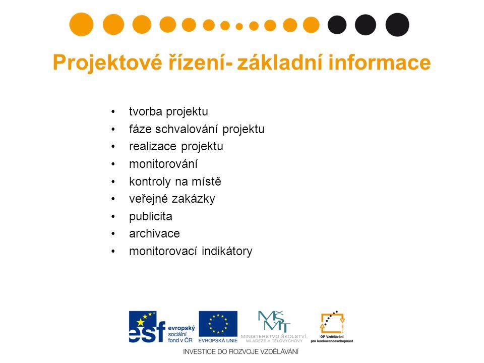 Projektové řízení- základní informace