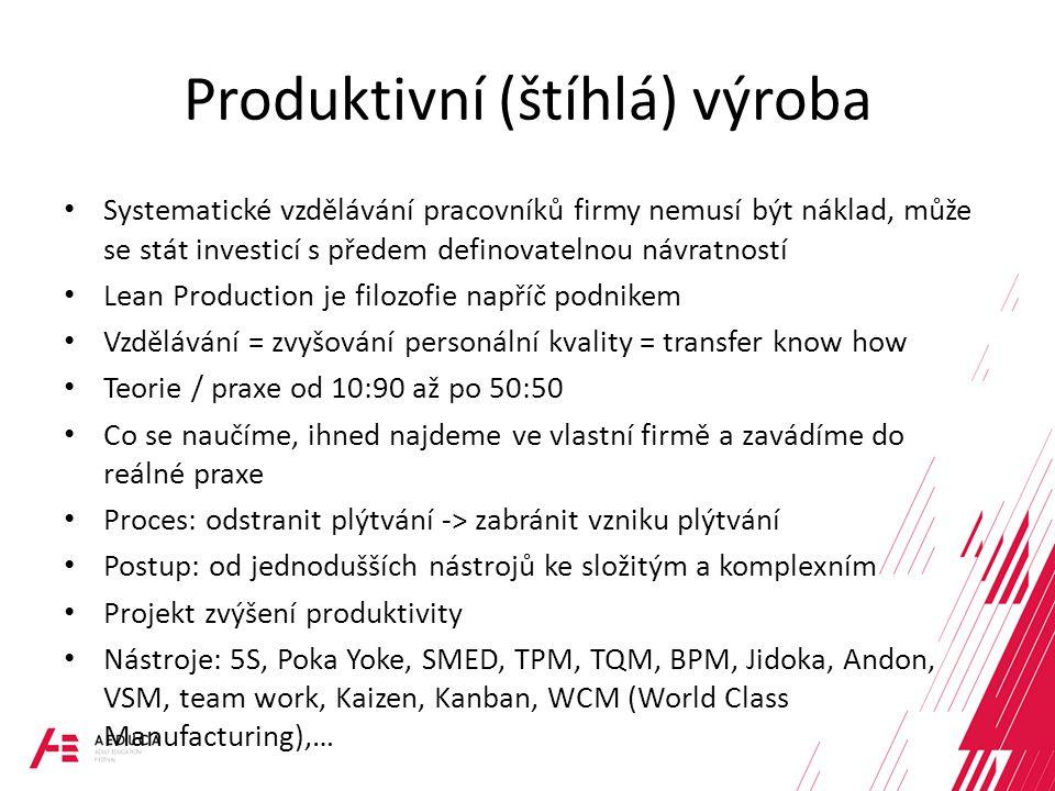 Produktivní (štíhlá) výroba