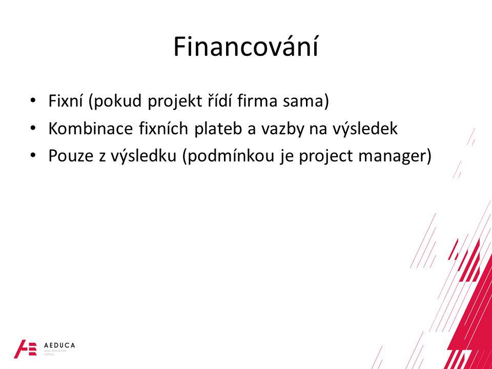 Financování Fixní (pokud projekt řídí firma sama)