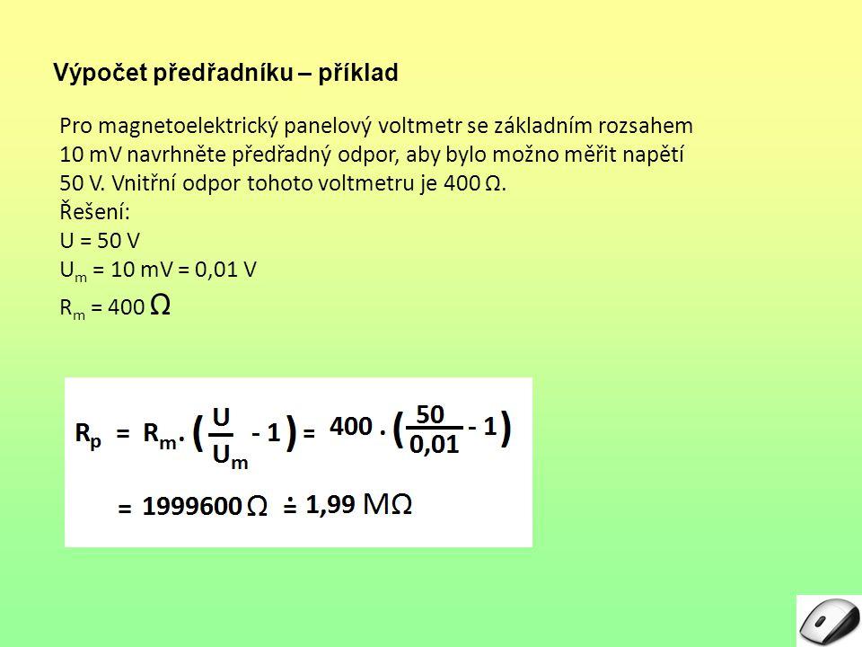 Výpočet předřadníku – příklad
