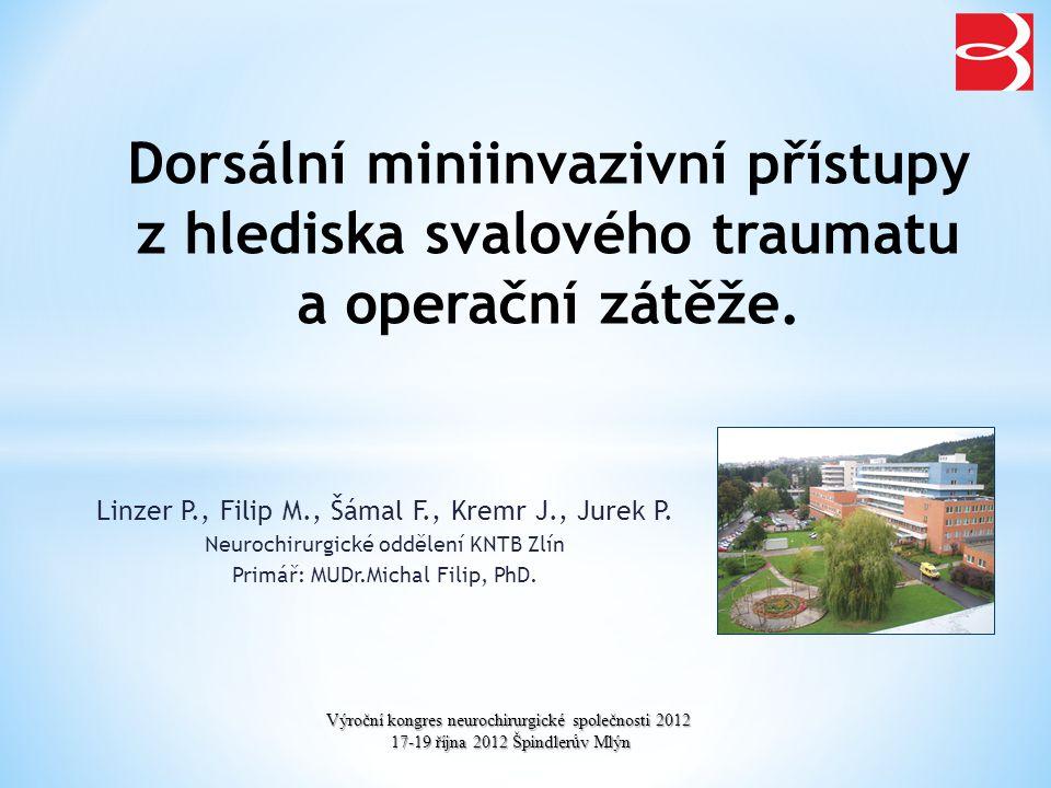 Dorsální miniinvazivní přístupy z hlediska svalového traumatu a operační zátěže.