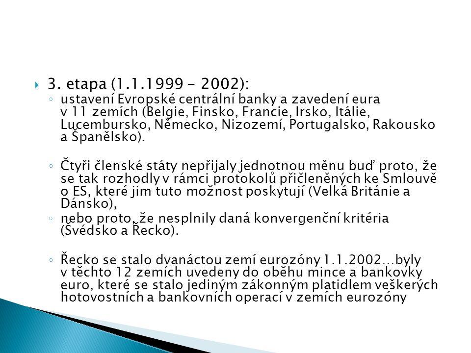 3. etapa (1.1.1999 - 2002):