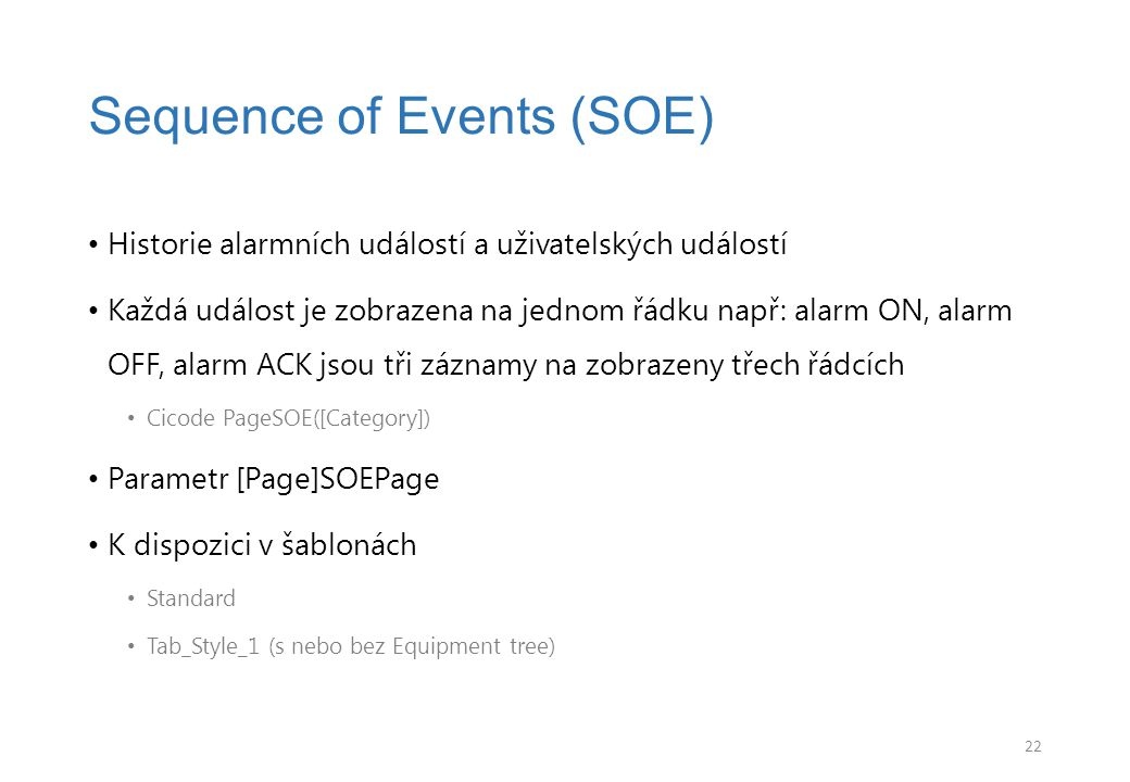 Sequence of Events (SOE)