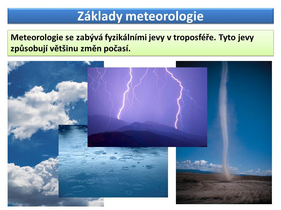 fdfdfdf Základy meteorologie. Meteorologie se zabývá fyzikálními jevy v troposféře.