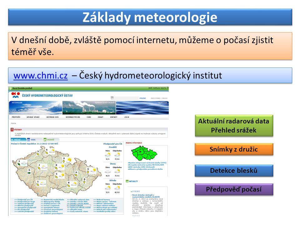Aktuální radarová data