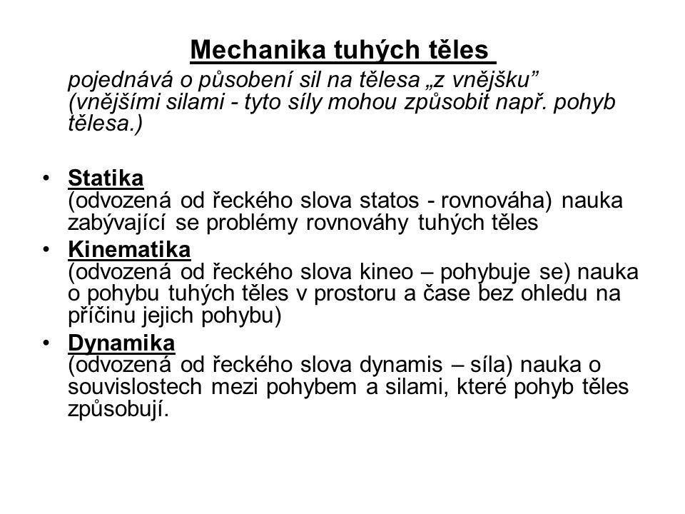 Mechanika tuhých těles