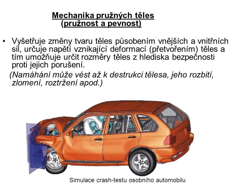 Mechanika pružných těles (pružnost a pevnost)