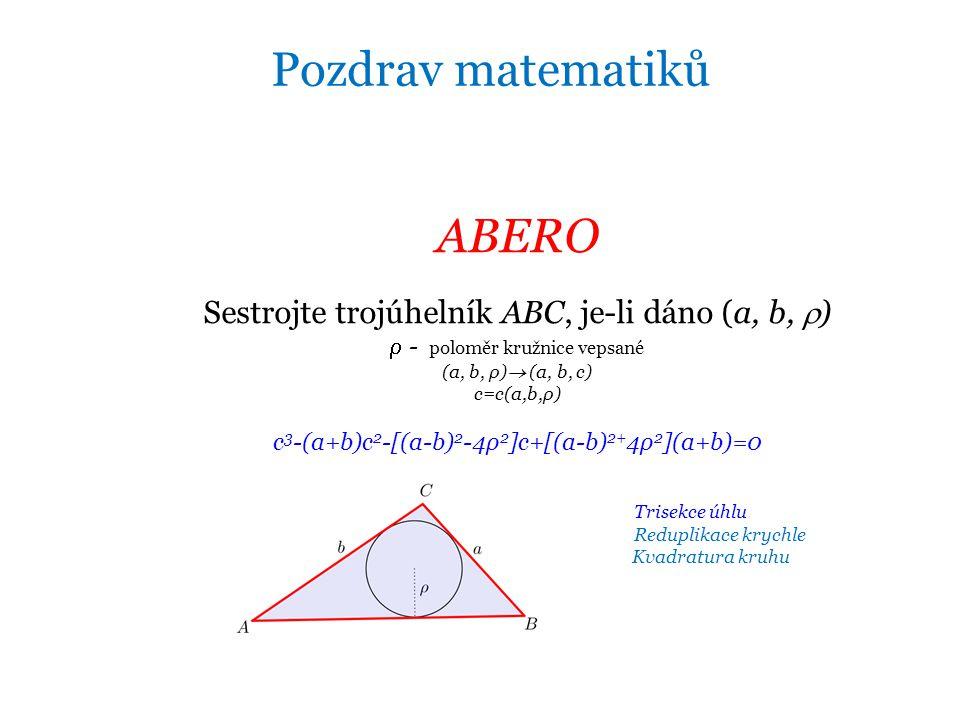 Pozdrav matematiků ABERO