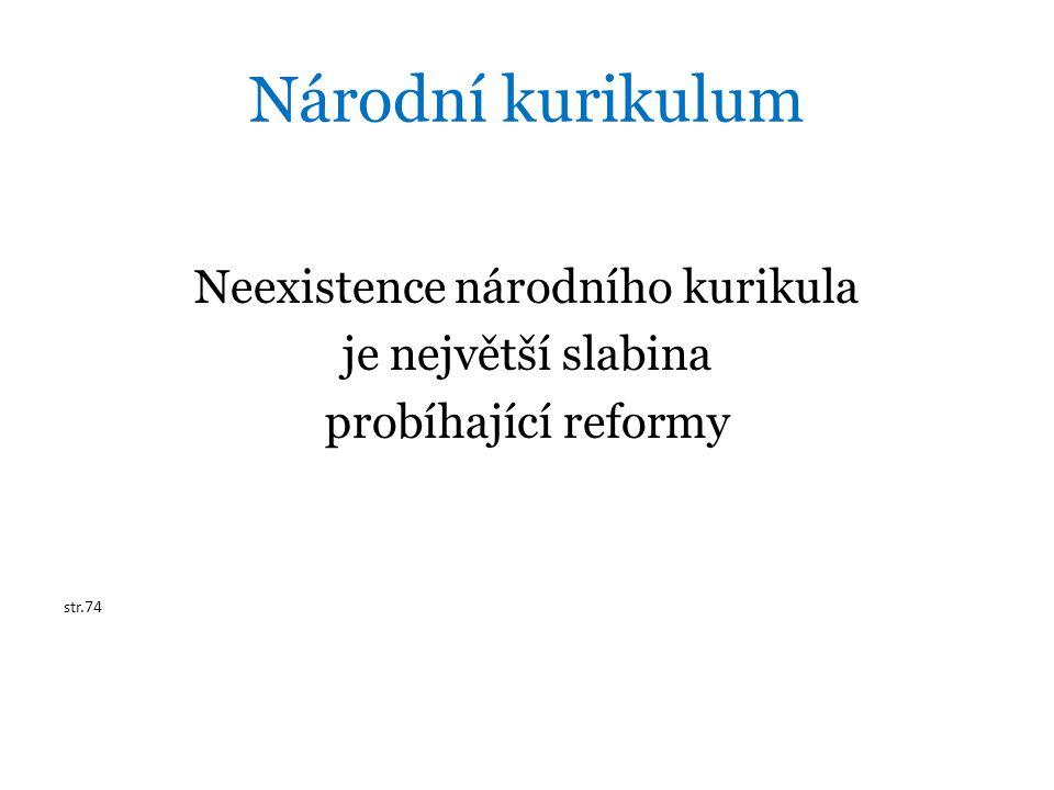 Neexistence národního kurikula
