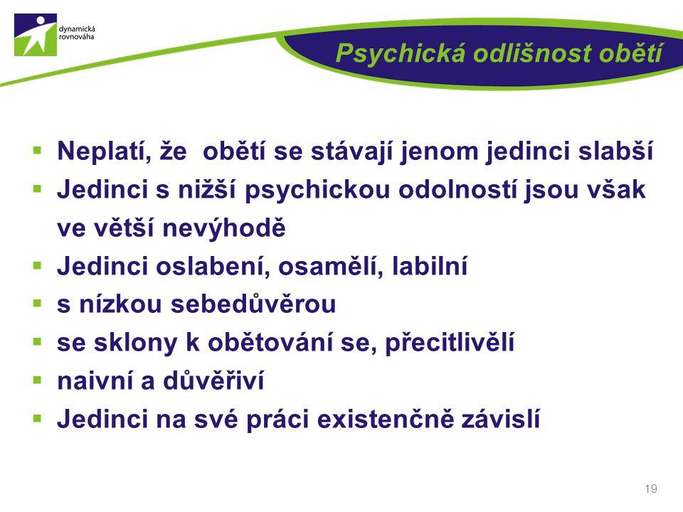 Psychická odlišnost obětí