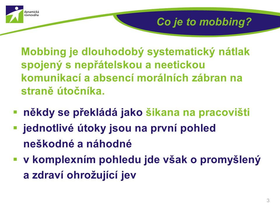 Co je to mobbing