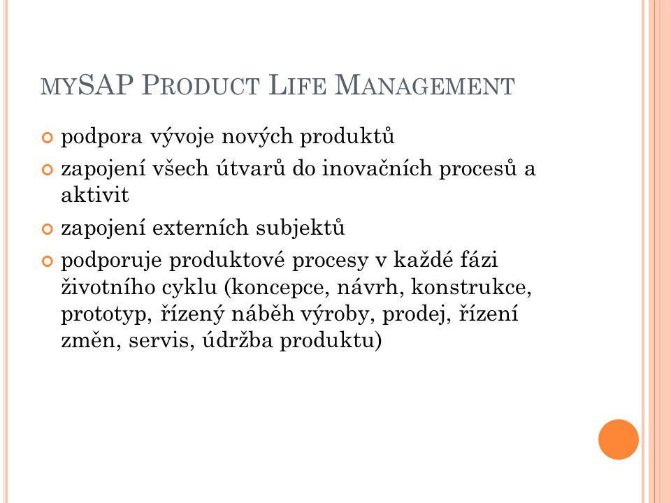 mySAP Product Life Management