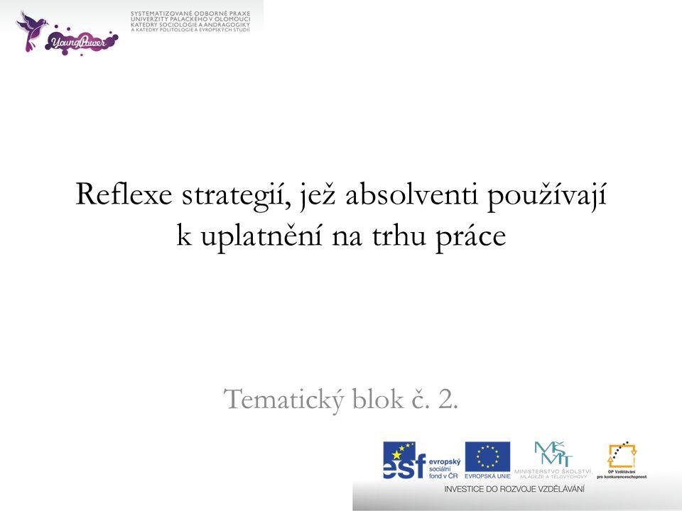 Reflexe strategií, jež absolventi používají k uplatnění na trhu práce