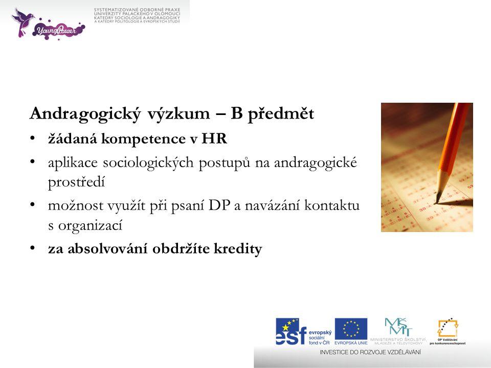 Andragogický výzkum – B předmět