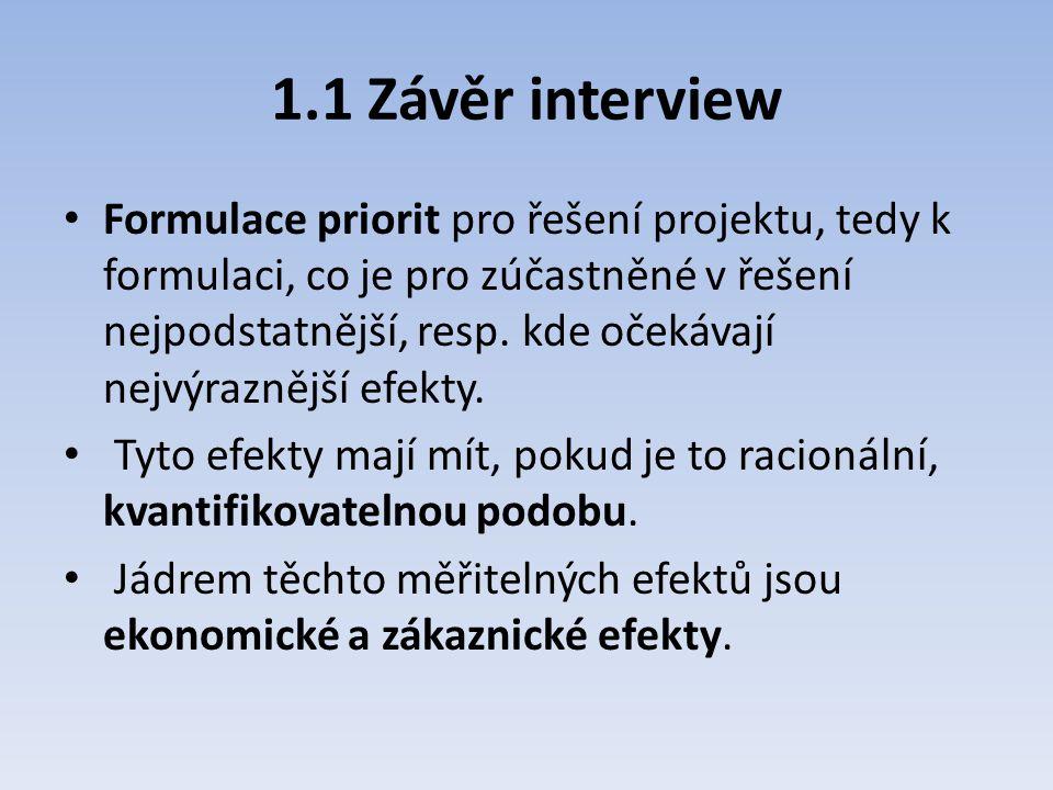 1.1 Závěr interview