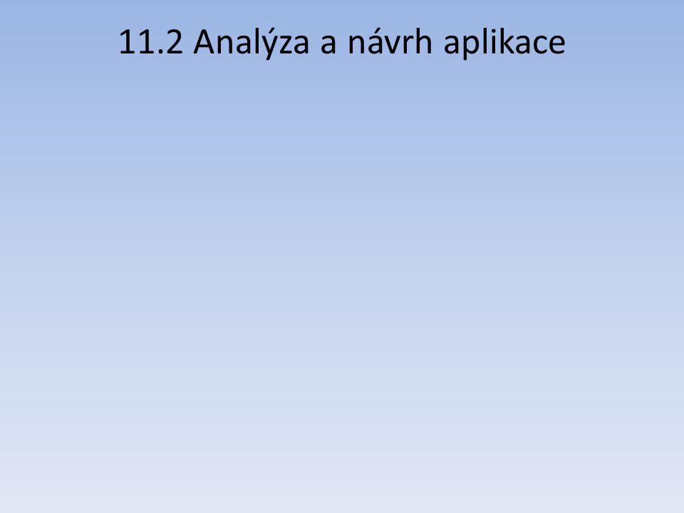 11.2 Analýza a návrh aplikace