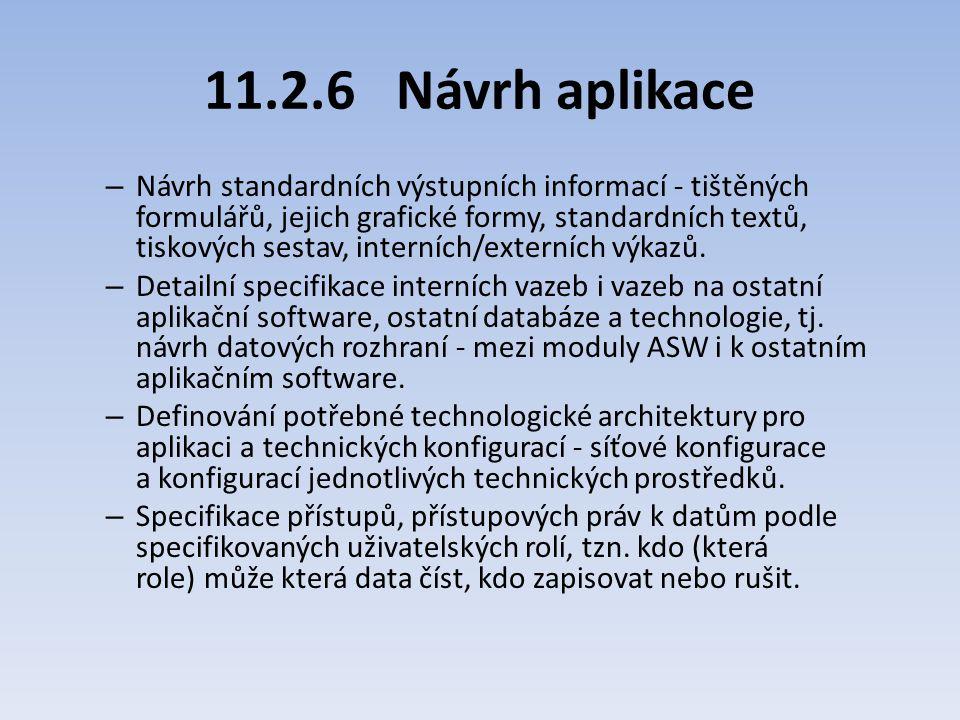 11.2.6 Návrh aplikace