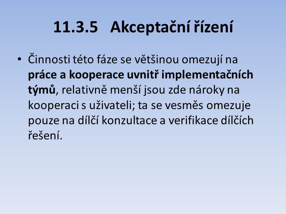 11.3.5 Akceptační řízení