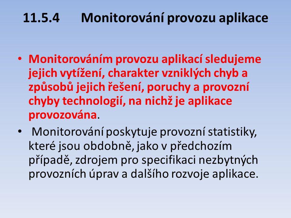 11.5.4 Monitorování provozu aplikace
