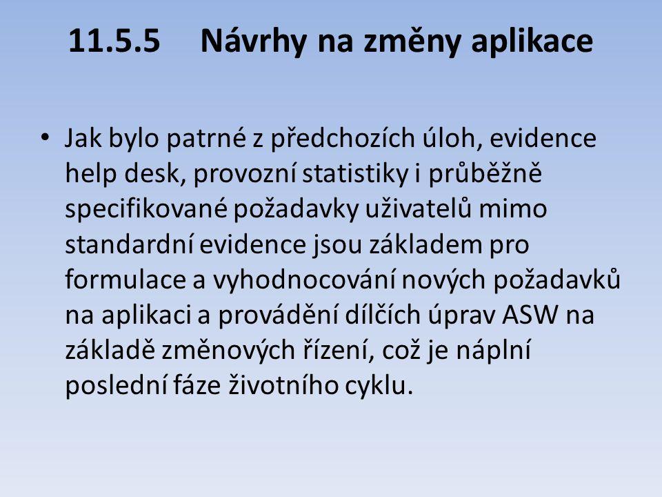 11.5.5 Návrhy na změny aplikace