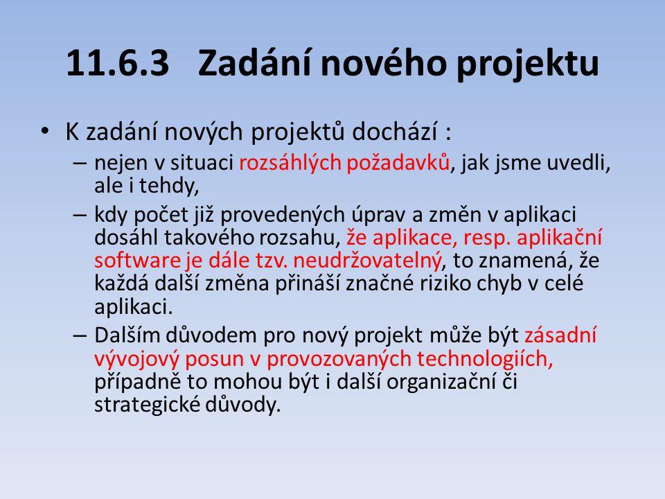 11.6.3 Zadání nového projektu