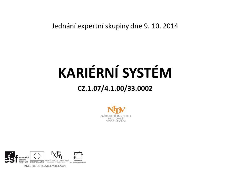 Jednání expertní skupiny dne 9. 10. 2014