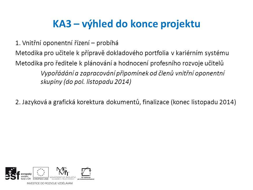 KA3 – výhled do konce projektu